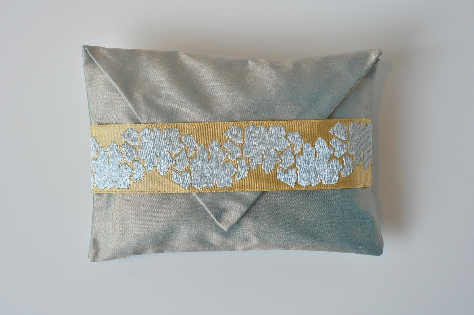 Fragment Stardust grey silk envelope cushion - MyBilletDoux.com