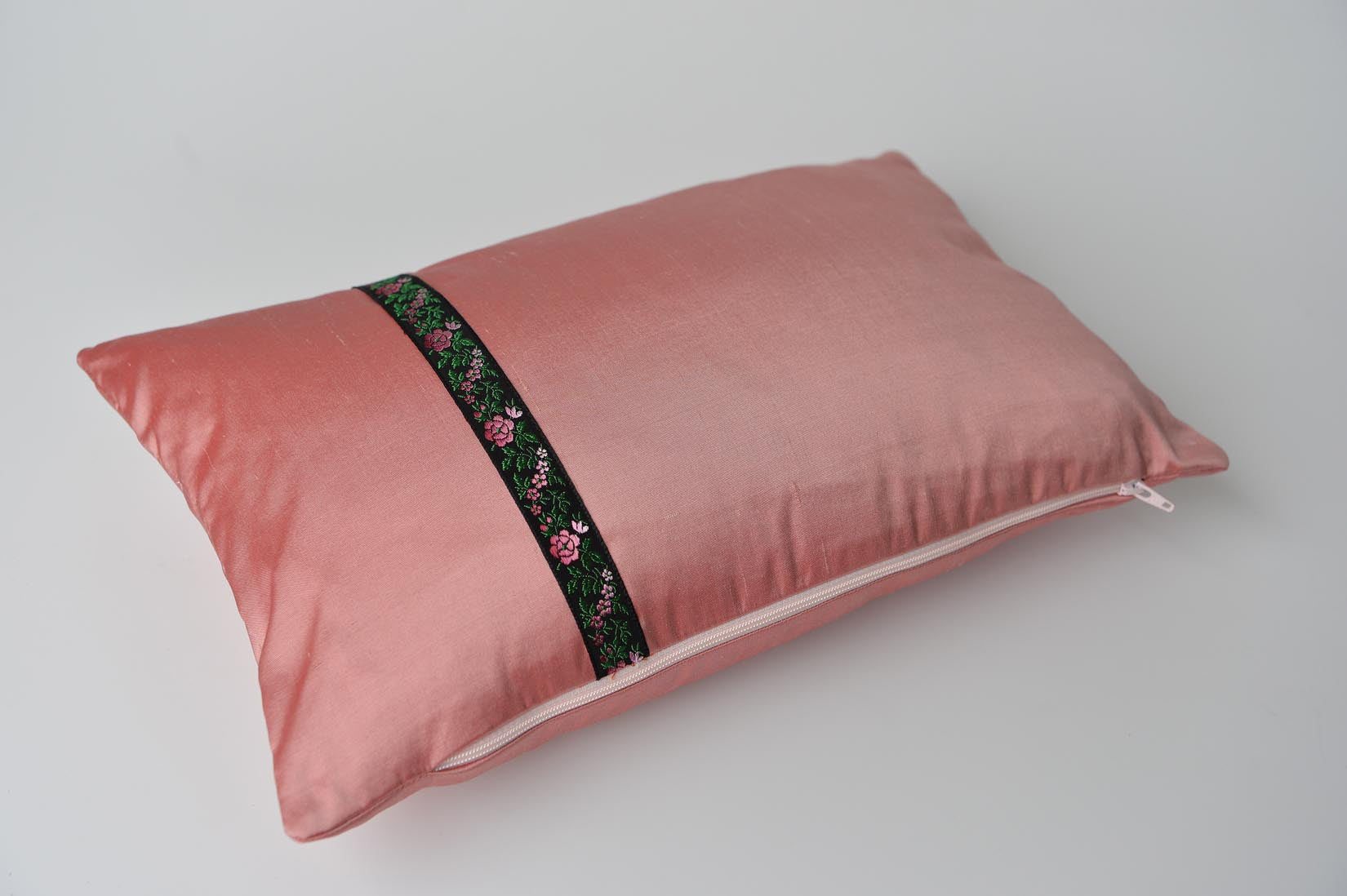 """Rose"" Blush pink silk cushion - MyBilletDoux.com"