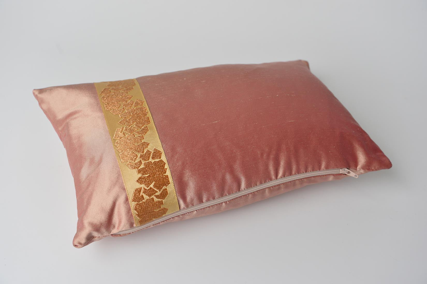 """Fragment"" Sunset pink silk cushion - MyBilletDoux.com"