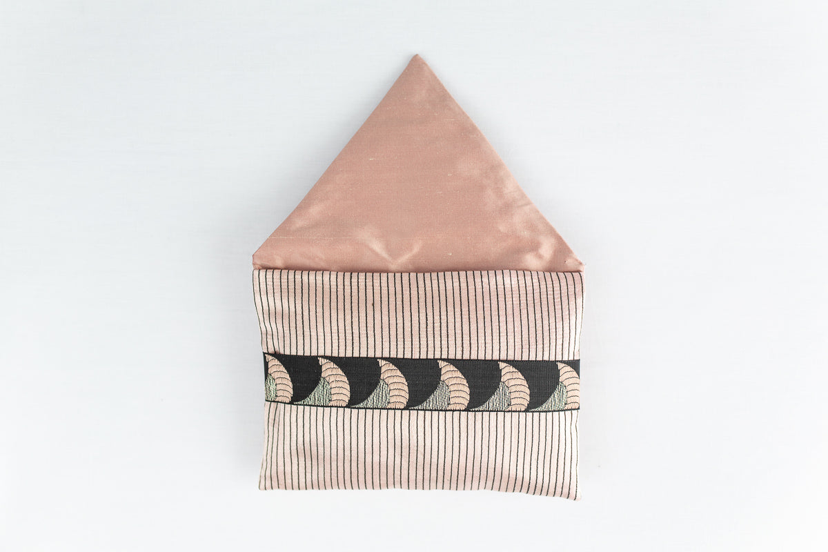 """Ottoman"" stripe silk envelope cushion"