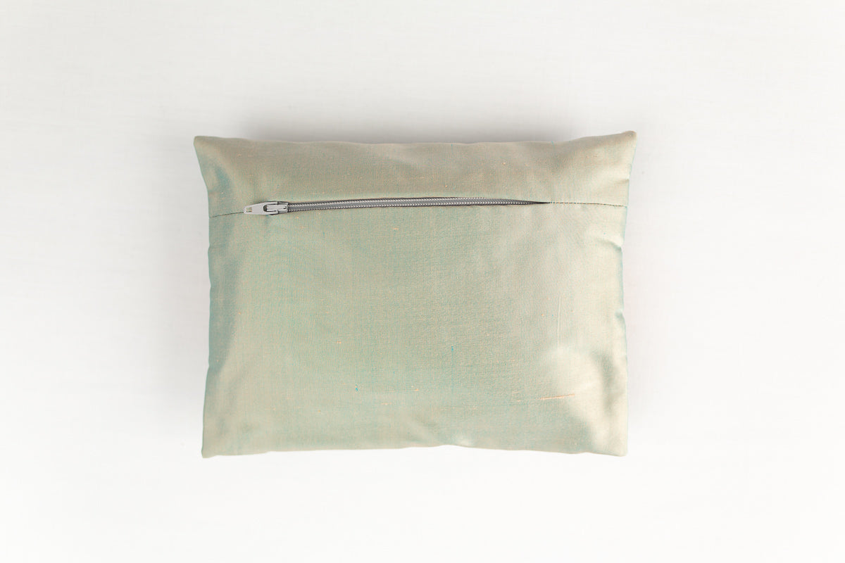 """Oiseaux"" stardust silk envelope cushion"