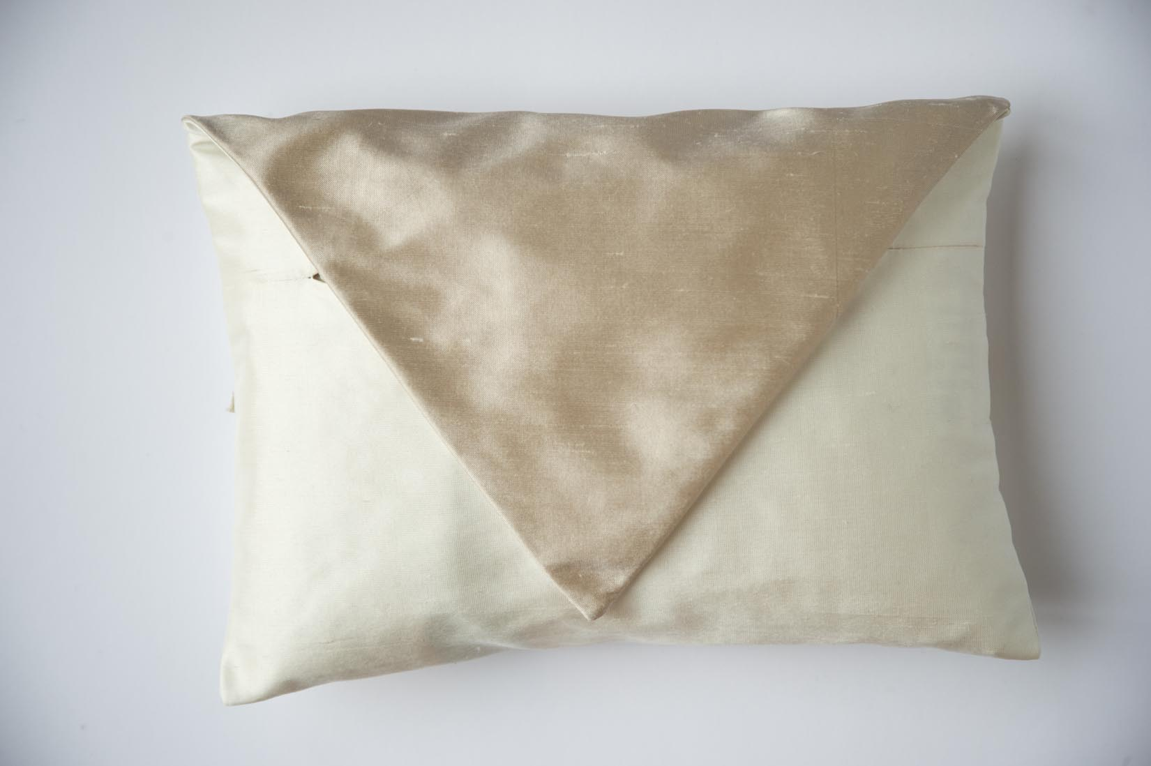Brocade Porcelain silk envelope cushion - MyBilletDoux.com