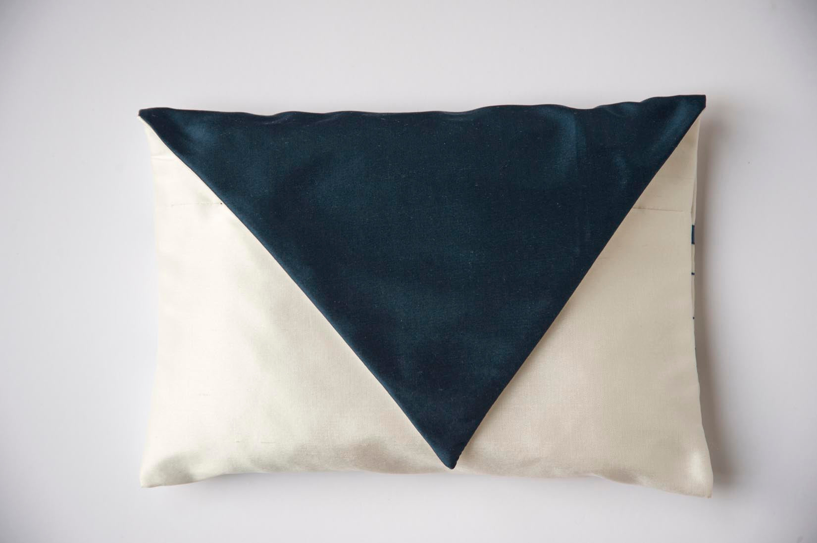 Chiffon porcelain silk envelope cushion - MyBilletDoux.com