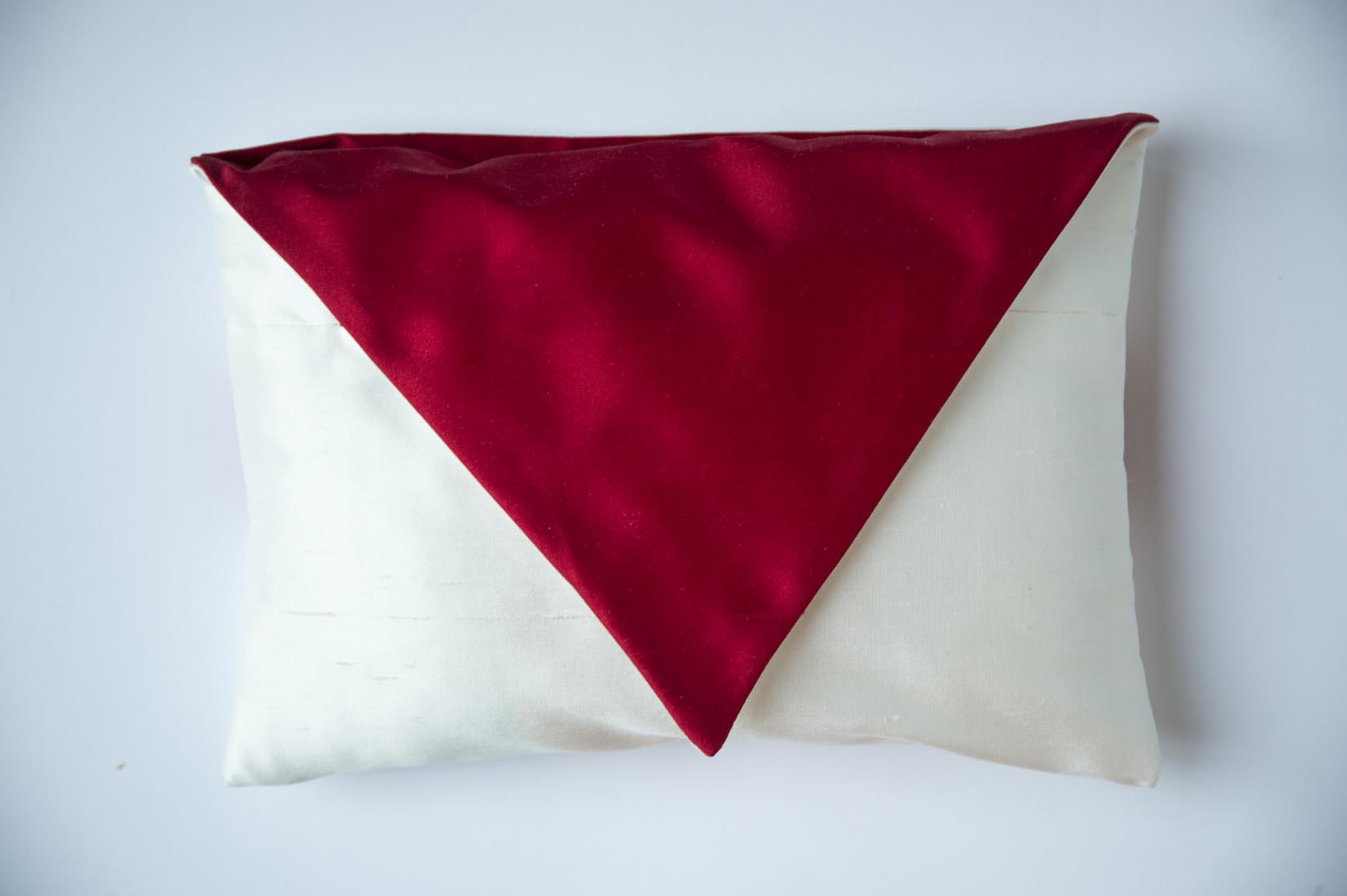 """Je T'aime"" Porcelain silk envelope cushion - MyBilletDoux.com"