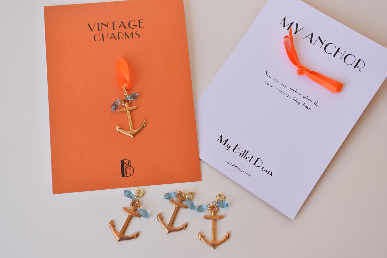 Anchor charm - MyBilletDoux.com