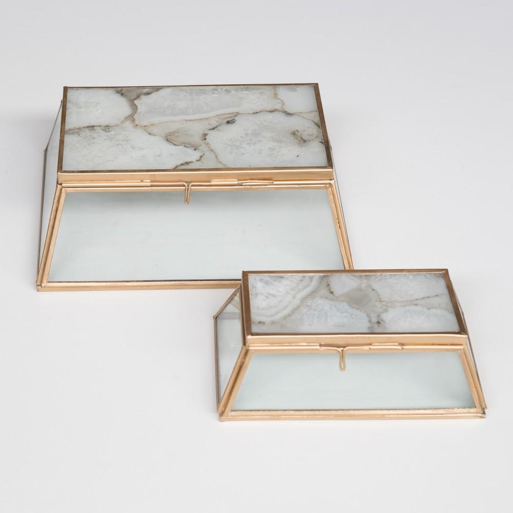 Set of agate and glass boxes - MyBilletDoux.com