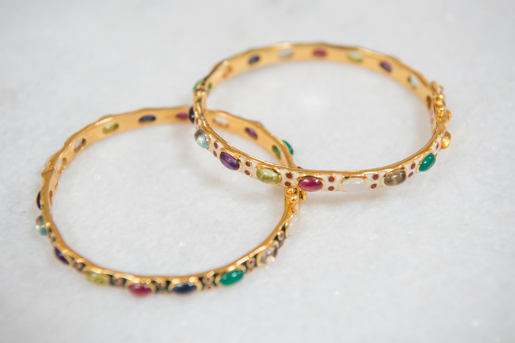 Enamel and gemstones bracelet
