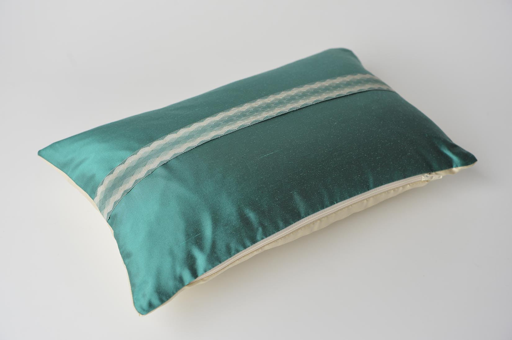 """Arlequin"" Elfin blue silk cushion - MyBilletDoux.com"