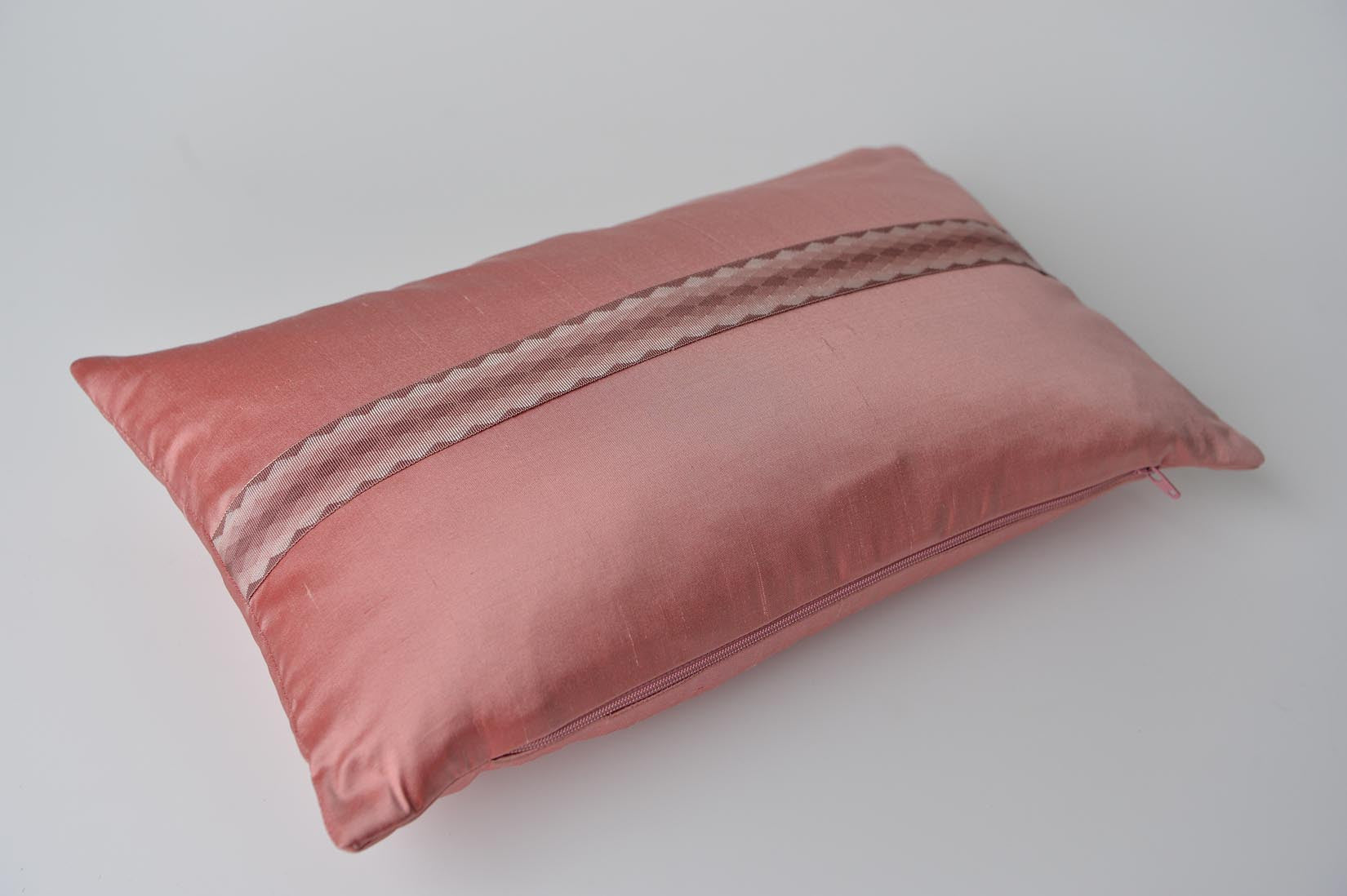 """Arlequin"" Blush pink silk cushion - MyBilletDoux.com"