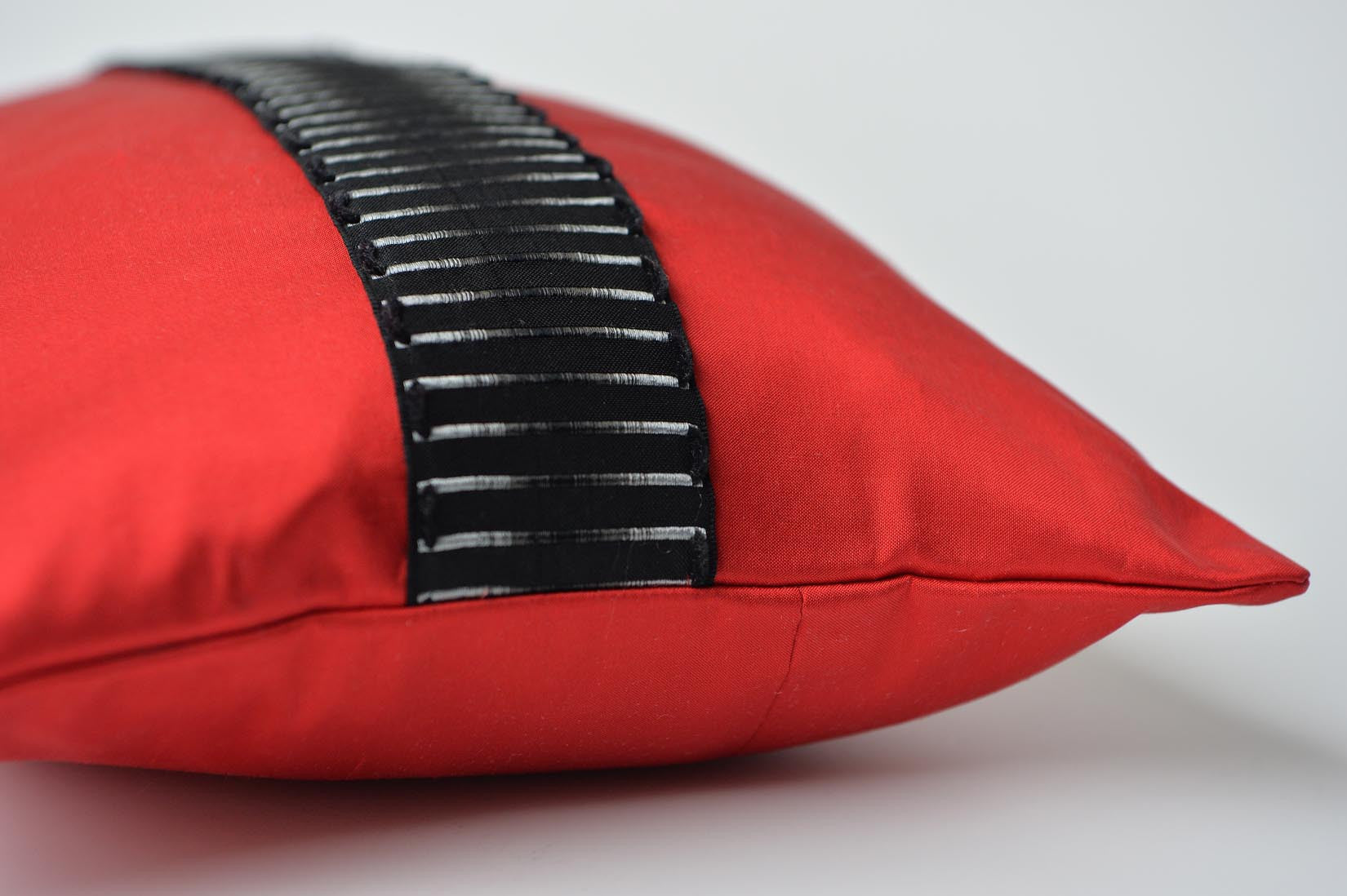 """Echelle"" Ruby red silk cushion - MyBilletDoux.com"
