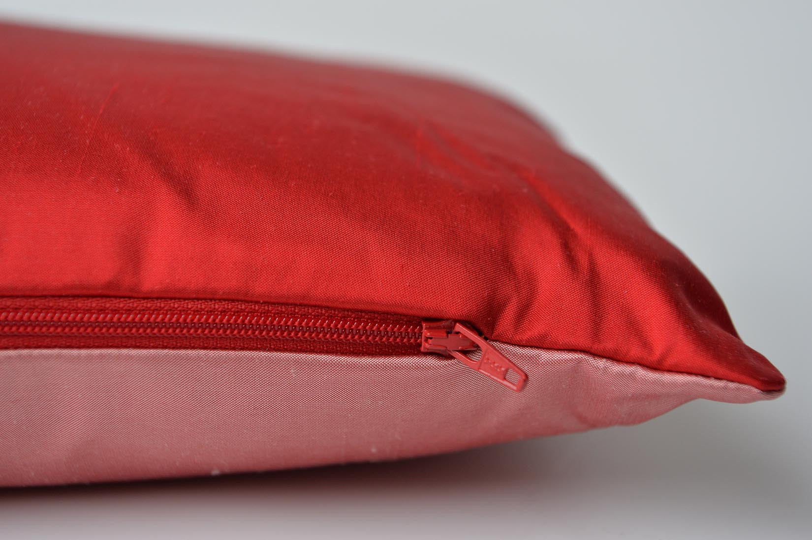 """Pensée"" Ruby red silk cushion - MyBilletDoux.com"