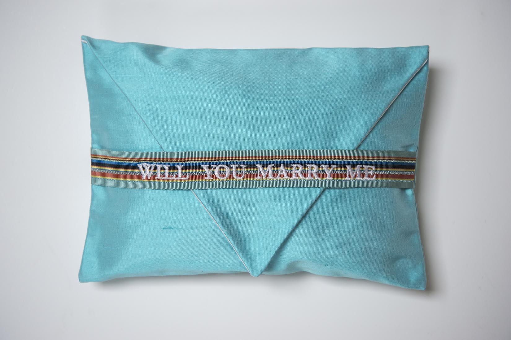 Will you marry me- haze silk ring cushion - MyBilletDoux.com