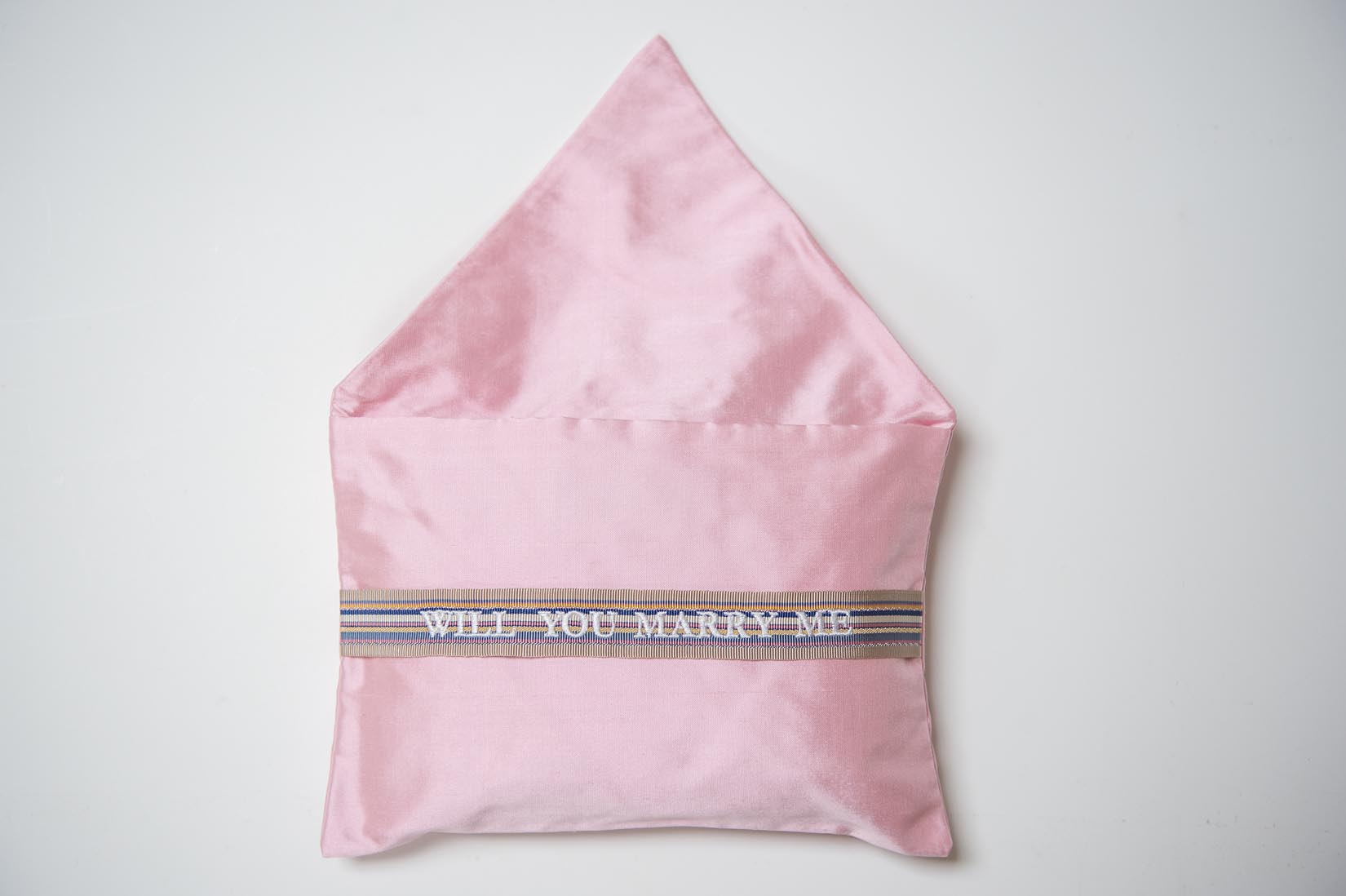 Will you marry me- candy silk ring cushion - MyBilletDoux.com
