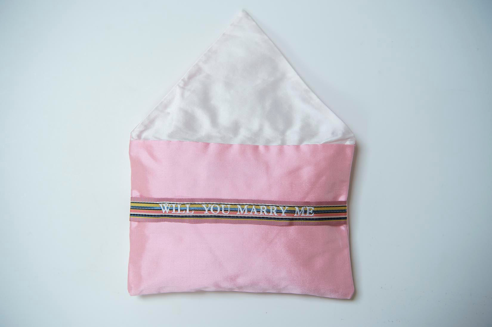 Will you marry me- candy silk envelope cushion - MyBilletDoux.com