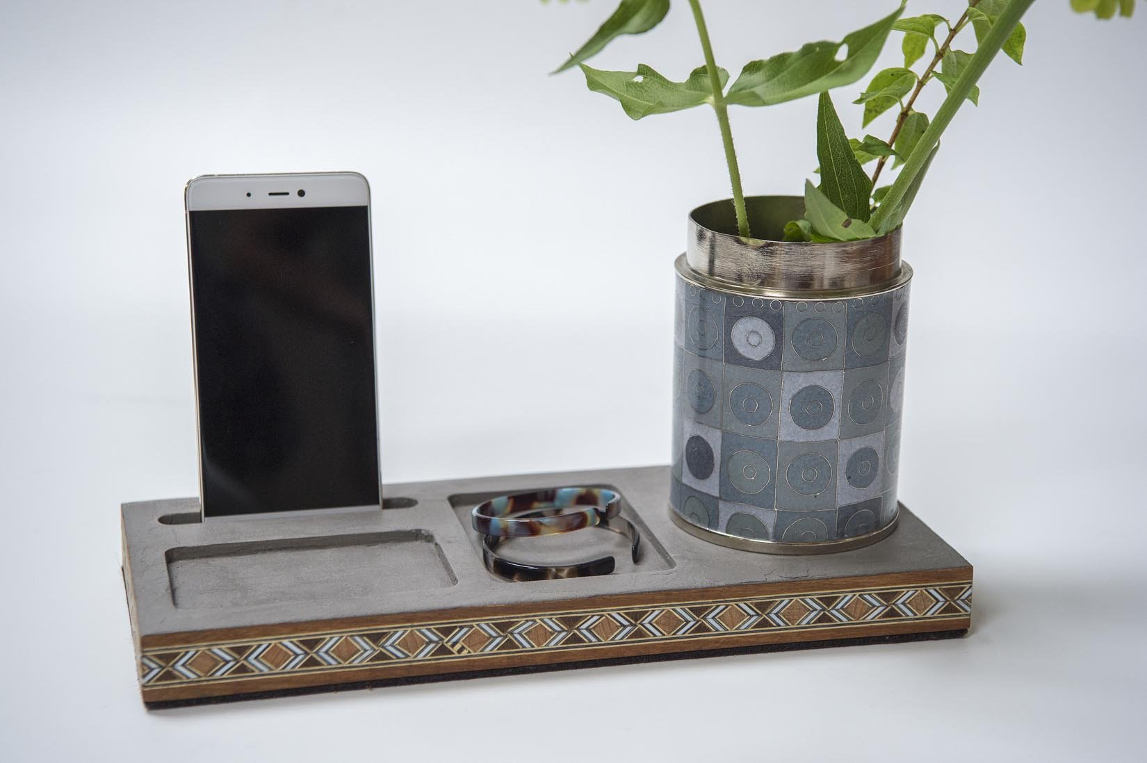 DESK ORGANIZER WITH MARQUETRY - MyBilletDoux.com