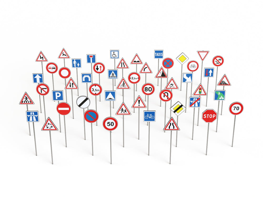 Load image into Gallery viewer, Road Signs Set - Nouvelle Mesure Lab