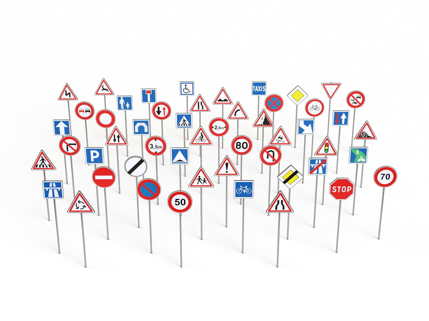 Road Signs Set - Nouvelle Mesure Lab
