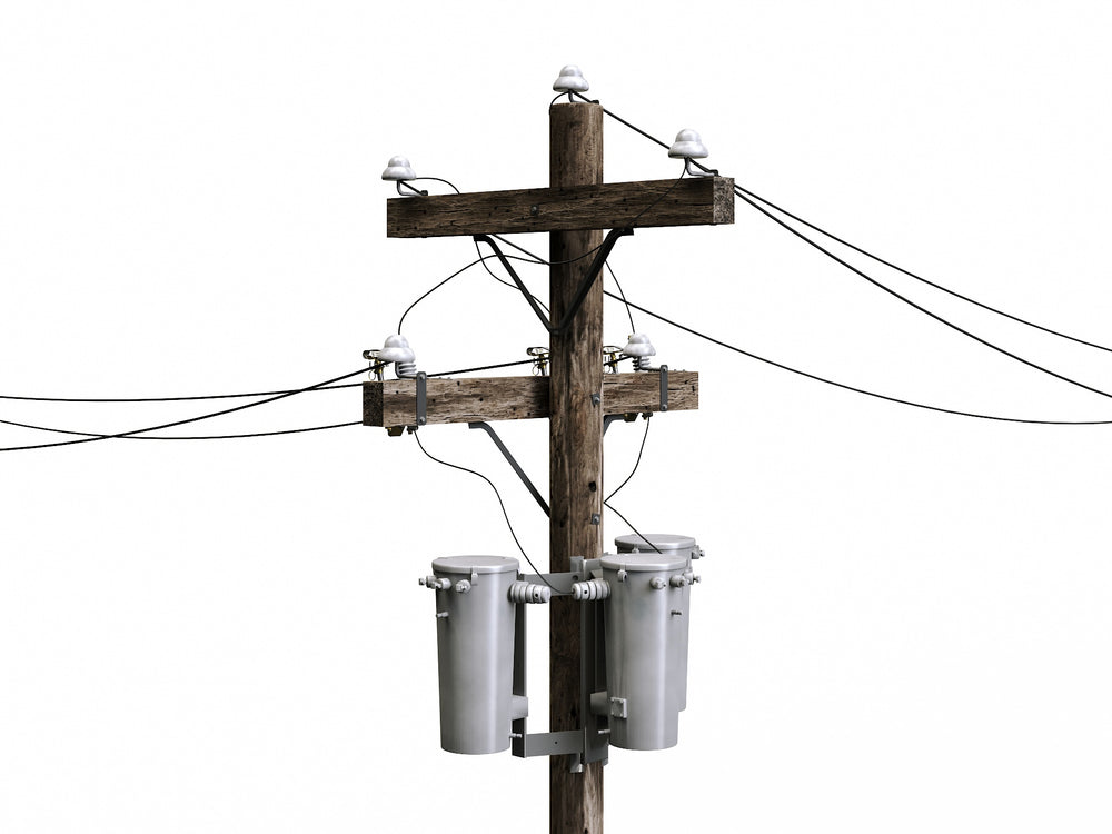 Load image into Gallery viewer, Wooden Electric Poles Set - Nouvelle Mesure Lab
