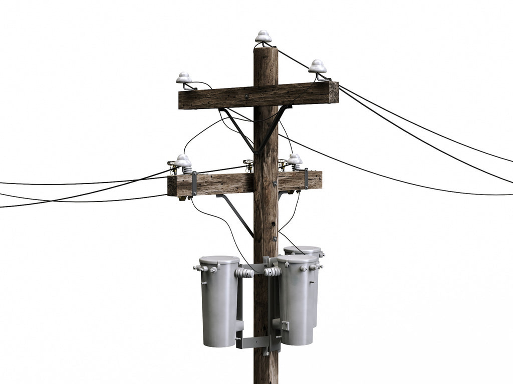 Wooden Electric Poles Set - Nouvelle Mesure Lab