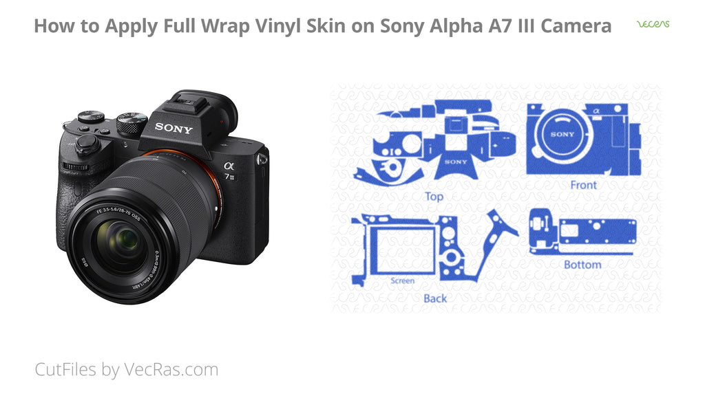 Sony Alpha A7 III Camera Vinyl Skin Application Tutorial