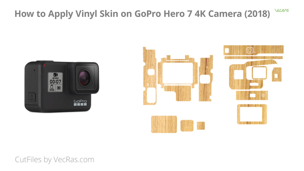 GoPro Hero 7 4K Action Camera 2018 Vinyl Skin Application Tutorial