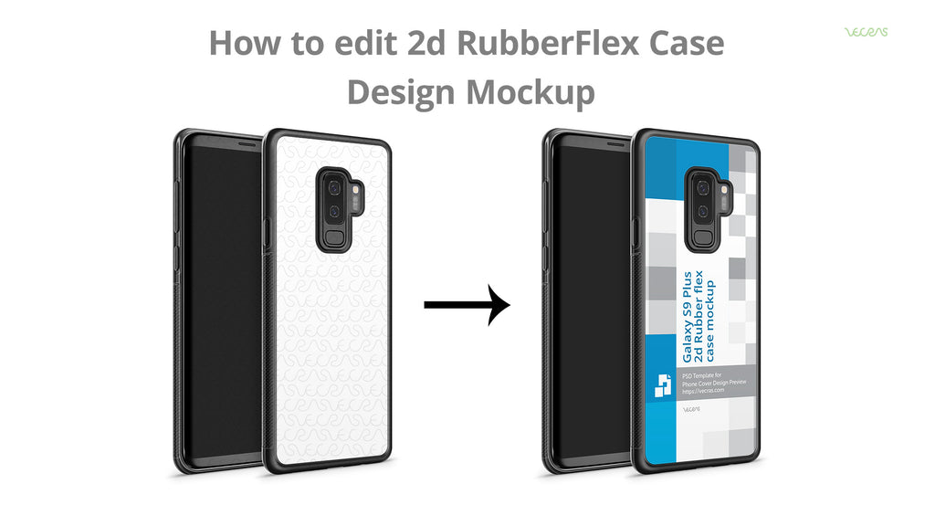 Customise 2d RubberFlex Case Mockup SmartPSD Template | VecRas