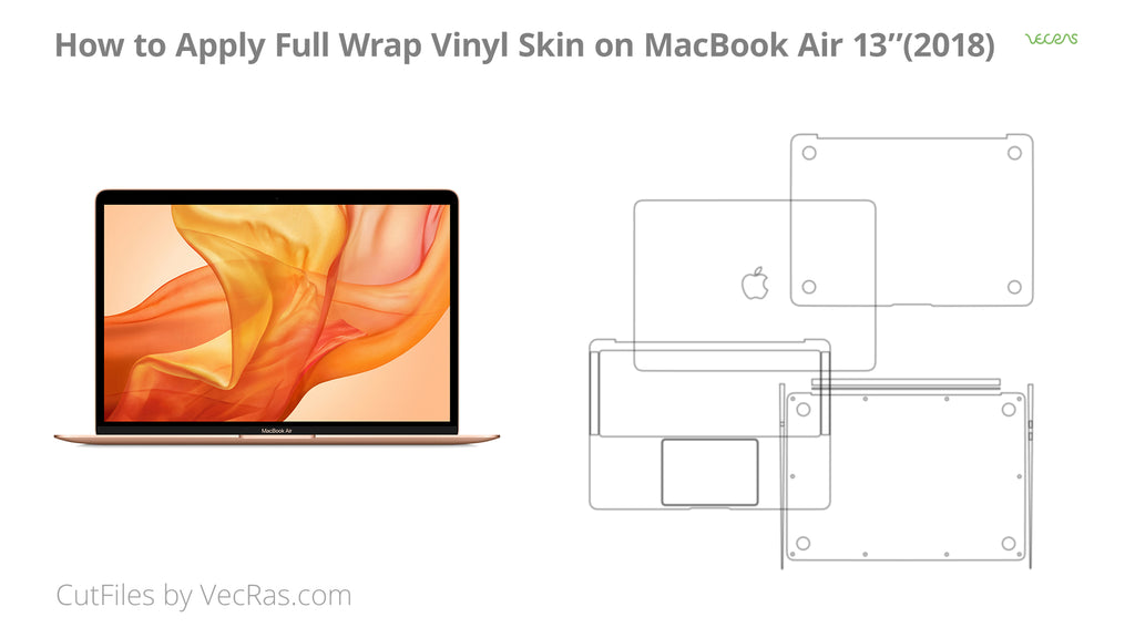 MacBook Air 13-inch Retina Display 2018 3M Vinyl Skin Application Tutorial
