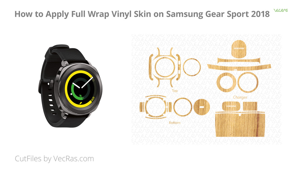 Samsung Gear Sport 2018 Vinyl Skin Application Tutorial