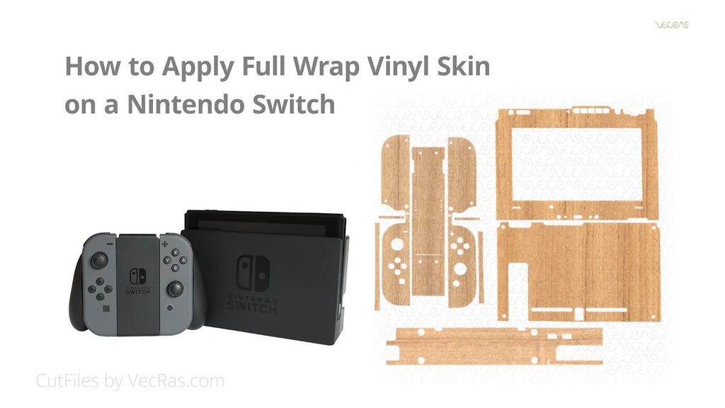 How to apply Full Wrap Vinyl Skin on a Nintendo Switch Gaming Bundle