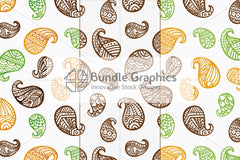 Tileable & scalable vector graphic seamless freehand style pattern pack