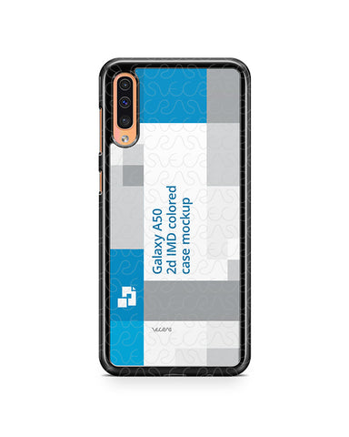 Samsung Galaxy A50 2d PC Colored Case Design Mockup 2019