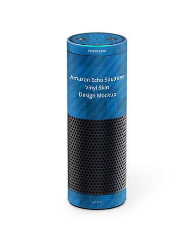 Amazon Echo Speaker Vinyl Skin Design Mockup
