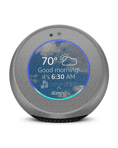 Amazon Echo Spot Audio Device Vinyl Skin Design Mockup 2017