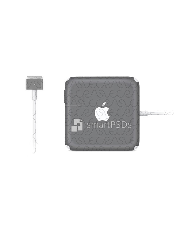 Apple MacBook Pro Retina Power Adapter (Charger with Connector) Vinyl Skin Design Mockup