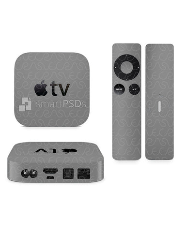 Apple TV & Remote 2nd and 3rd Generation Vinyl Skin Design Mockup