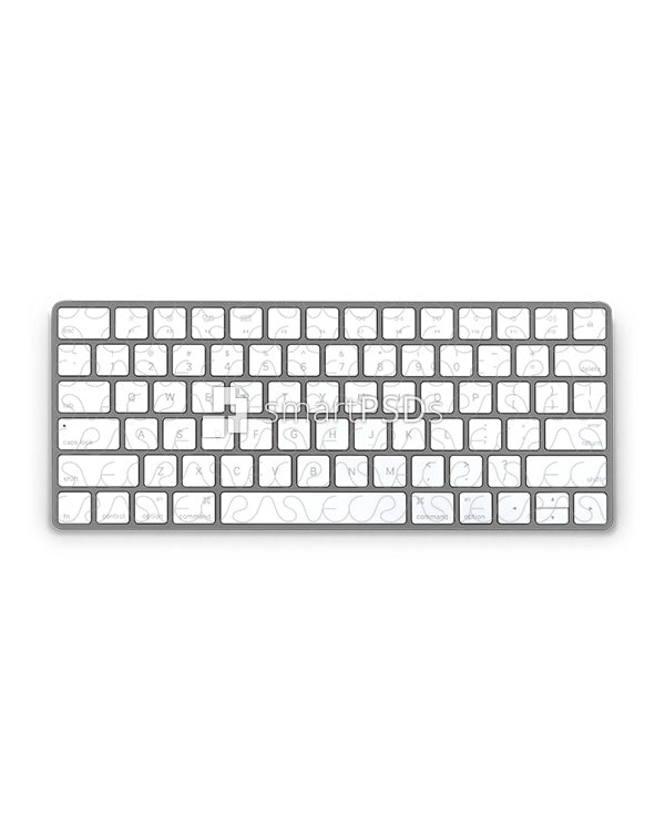 Apple Wireless Keyboard Vinyl Skin Design Mockup