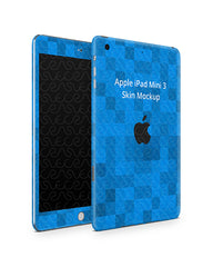 Apple iPad Mini 3 Tablet Skin Design Template (Front-Back Angled)