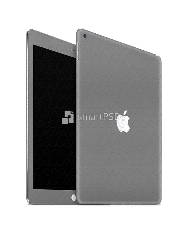 Apple iPad (9.7) 2018 Tablet Skin Design Template (Front-Back Angled)