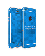 Apple iPhone 5s-SE Vinyl Skin Design Mockup (Front-Back Angled)