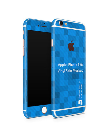 Apple iPhone 6-6s Vinyl Skin Design Mockup 2015 (Front-Back Angled)