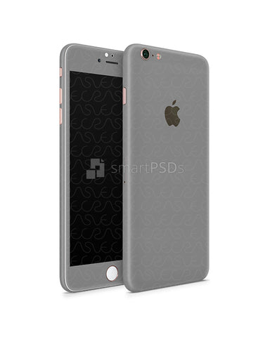 Apple iPhone 6s Plus Vinyl Skin Design Mockup 2015 (Front-Back Angled)