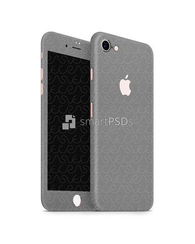 Apple iPhone 7 Mobile Skin Design Template (Front-Back Angled)