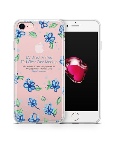iPhone 7 UV TPU Case with Frosted Edges Design Mockup 2015