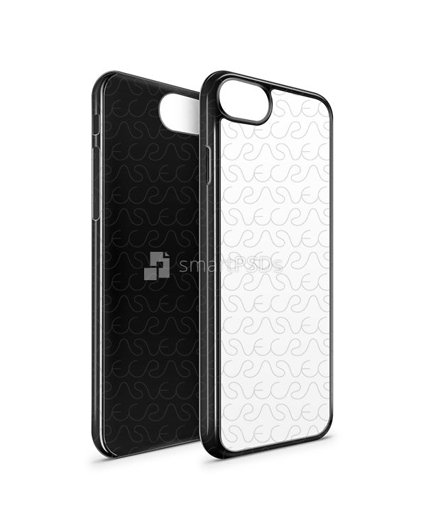 iPhone 8 2d PC Colored Case Design Mockup 2017 (Front-Back Angled)