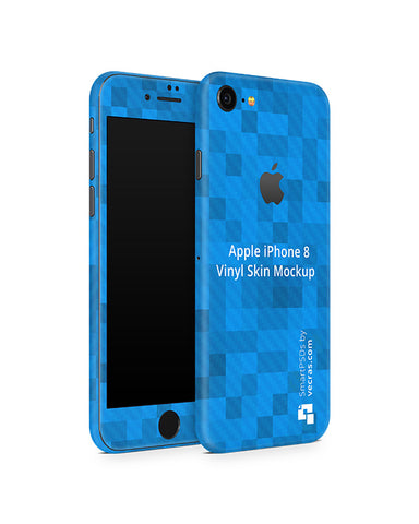 Apple iPhone 8 Vinyl Skin Design Mockup 2017 (Front-Back Angled)