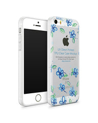 iPhone SE UV TPU Case with Frosted Edges Design Mockup 2016 (Front-Back angled)