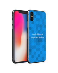 Apple iPhone X Vinyl Skin Design Mockup (Front-Back Angled)