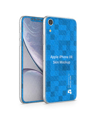 Apple iPhone XR Vinyl Skin Design Mockup 2018(Front-Back Angled)