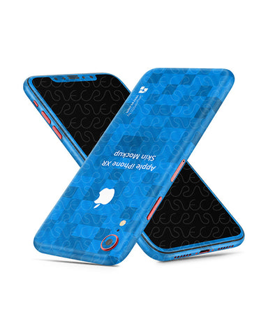 Apple iPhone XR Vinyl Skin Design Mockup 2018 (Tilt)