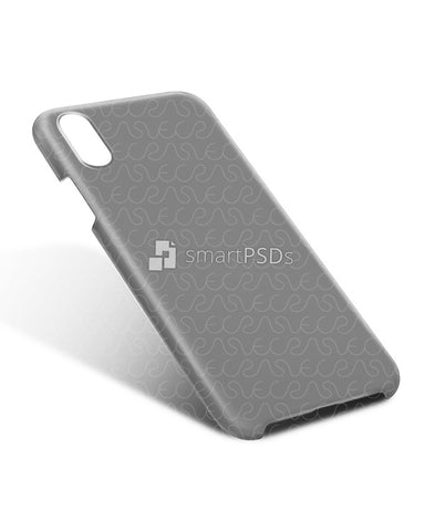 iPhone XS-XS Max 3d IMD Case Design Mockup 2018 (Back Tilt)
